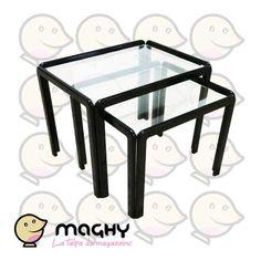 Coppia di tavolini con piano in vetro - 205,00 € - Solo online: http://www.maghy.eu/arredamento/173-coppia-di-tavolini-con-piano-in-vetro.html - Codice: sistema-tavolini - Prodotto Nuovo - Articolo nuovo EX ESPOSIZIONE MOBILIFICO - Peso cad.: 20 kg - Dimensioni del più grande: 41x54x40(H) cm