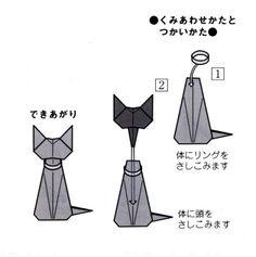 リングフォルダー猫の組み合わせ方