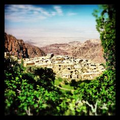 The green hills surrounding Dana Village in the south of #Jordan. #Travel #Photography