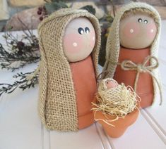 READY TO SHIP holiday decor, whimsical nativity set rustic clay pot christmas nativity scene, Christmas decor, hostess, teacher gift – 2019 - Holiday ideas Christmas Nativity Scene, Christmas Projects, Kids Christmas, Christmas Ornaments, Nativity Scenes, Felt Ornaments, Christmas Clay, Christmas Scenes, Christmas Bells