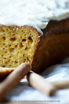 Pumpkin-Pound-Cake oder auch Kürbis-Gewürzkuchen - Zimtkeks und Apfeltarte