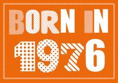 Einladung Zum 40. Geburtstag: Born In 1976