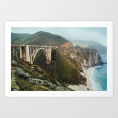 #BixbyBridge #BigSur #California #PhotoArtPrint #Landscape #TravelPhotography Bixby Bridge, Art Photography, Travel Photography, Big Sur California, Buy Frames, Coastal, Ocean, Art Prints, Gallery