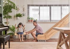 HAO Design adds playful elements throughout the home so the children can spend more time with their parents.