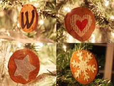 simple wood christmas ornaments