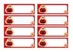 Lienka - menovky pre deti Cubby Labels, Baby Ladybug, School Frame, School Posters, Activity Centers, Early Childhood Education, Cubbies, Animals Beautiful, Gift Tags