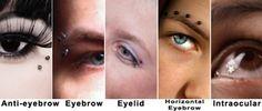 Other Eye/Eyebrow Piercings