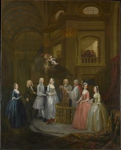William Hogarth (English, Smithfield 1697–1764 London). The Wedding of Stephen Beckingham and Mary Cox, 1729. The Metropolitan Museum of Art, New York. Marquand Fund, 1936 (36.111) #wedding