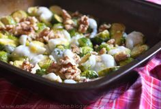 Roasted brussels sprouts with goat's cheese, lemon and walnuts - Amuse Your Bouche