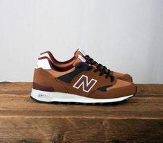 New Balance 577 – Tan / Burgundy – Navy Blue