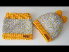 Crochet Beanie Hat With Leaves - Beton Market Knitting Videos, Crochet Videos, Loom Knitting, Free Knitting, Baby Hats Knitting, Baby Knitting Patterns, Knitted Hats, Crochet Beanie, Crochet Baby