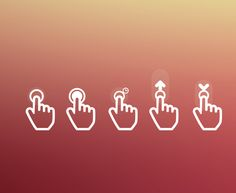 Flat Gesture Icon Pack by Federico Cerdà, via Behance