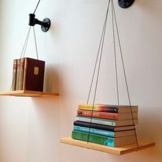DIY Idea: Make a Balanced Bookshelf | Man Made DIY | Crafts for Men | Keywords: inspiration, DIY, storage, book