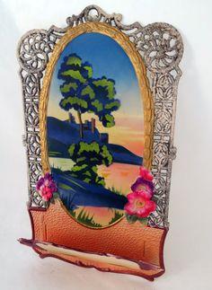 Embossed Die Cut Calendar Card Holder by MinniesFlea on Etsy, $22.00
