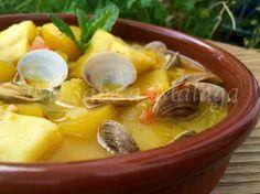 #Disfruta #familia #amigos exquisito: Guiso de #calabaza con #bacalao y #almejas. La calabaza, ingrediente básico de la gastronomía popular #Málaga #recetas #aurelio