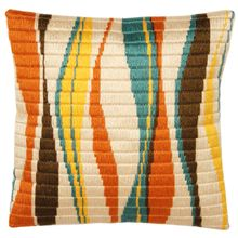 Retro Long Stitch Pillow Cover
