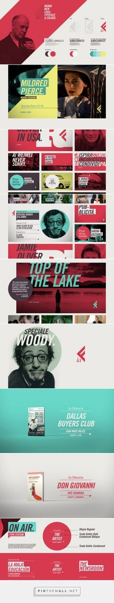Angles / Color / Type / Bold /// La Effe | Tv Channel Branding - created via https://pinthemall.net