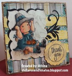 Witch Tilda and pumpkins, So Spooky collection, Magnolia stamps