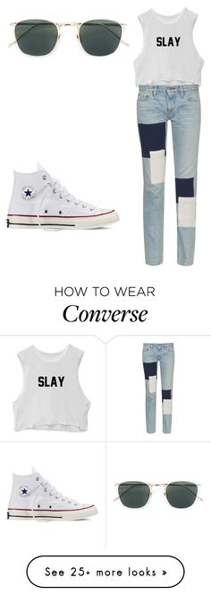 """Untitled #325"" by fairytalestorybook on Polyvore featuring Simon Miller, Linda Farrow and Converse"