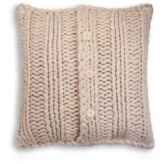 UGG Australia Oversize Knit Pillow (¥20,980) ❤ liked on Polyvore featuring home, home decor, throw pillows, oatmeal, square throw pillows, oversized throw pillows, textured throw pillows, ugg australia i knit throw pillow