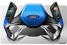 Ford steering wheel concept - cool for sure!