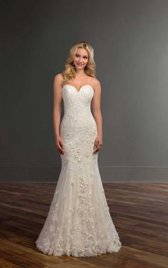 978 Strapless Wedding Dress With Fl Lace By Martina Liana Elegant Gowns Dream