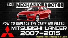 This video will show you step by step instructions on how to replace the cabin air filter on a Mitsubishi Lancer Lancer 2007, Mitsubishi Lancer, Step By Step Instructions, Filters, Cabin, Life, Air Filter, Cabins, Cottage