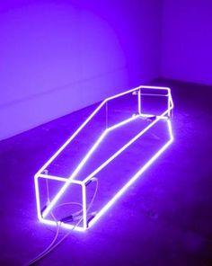 Sarah Lucas, New Religion (violet), neon; 15 x 21 x inches Neon Purple, Purple Rain, Sombra Neon, Sarah Lucas, Creation Art, Damien Hirst, Aesthetic Colors, Lavender Aesthetic, The Villain
