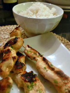 Slice of Southern: Chicken Satay with Spicy Peanut Sauce