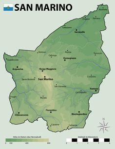 San Marino domborzati térképe