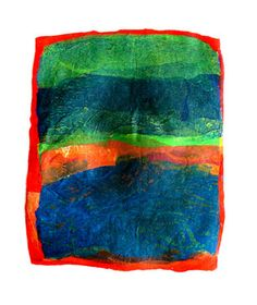 """Saatchi Online Artist Aviva Sawicki; Assemblage / Collage, """"Golan VII"""" #art Made from recycled plastic bags."""