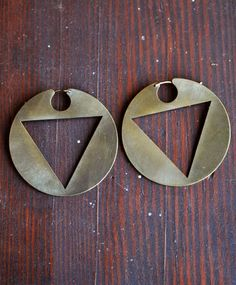 BACK IN STOCK: Lila Rice Triangle Disc Hoops