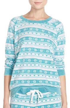 Honeydew Intimates Burnout French Terry Sweatshirt available at #Nordstrom #pajamas #GreenIcelandFairIsle