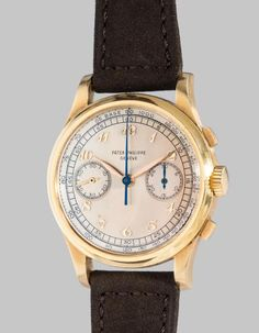 """Manufacturer: Patek Philippe Year: 1949 Reference No: 530 Movement No: 867'650 Case No: 511'605 Material: 18K yellow gold Calibre: Manual, cal. 13"""""""", 23 jewels Bracelet/Strap: Leather Clasp/Buckle: 18K yellow gold pin buckle signed PPCo Dimensions: 36.5mm. Diameter"""