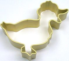 Yellow Duck Metal Cookie Cutter Poly Resin Coated by JazzyAppleGal, $2.25