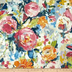 2 Panels of Glenburn Peonies Pink Fabric, Floral Fabric, Cotton Fabric, Green Curtains, Blue Floral Curtains, Beige Curtains, Diy Curtains, Kitchen Curtains, Floral Pillows