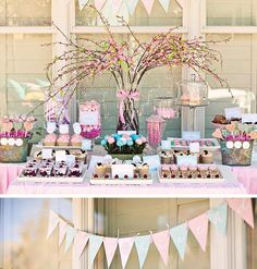 Here's another great find on Hostess with the Mostess ! This birthday party, styled byLindsay of Banner Boutique ,has such a fresh color...