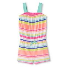 Toddler Girls' Striped Smocked Romper   - Circo™
