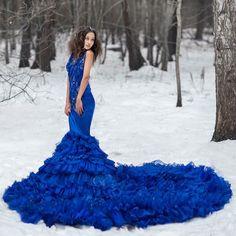 Art House Dress blue mermaid wedding dress