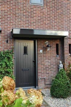 shared by www. Barn Door Decor, Diy Barn Door, Front Door Entrance, Glass Front Door, Black Front Doors, Back Doors, Door Frame Molding, Contemporary Patio, Types Of Doors
