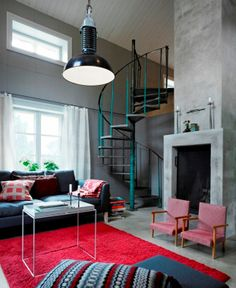 scandinavian interior design with rustic style