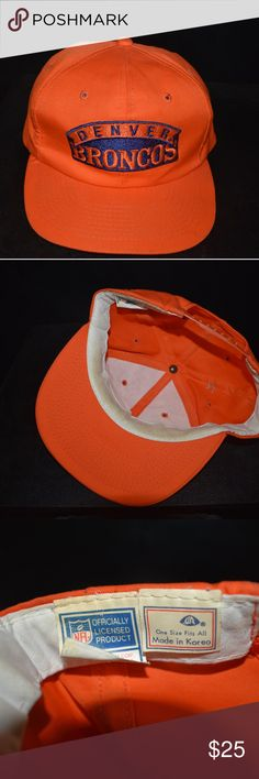 7e6f08eac62 Vintage Denver Broncos snapback hat Used As Is....in good condition.
