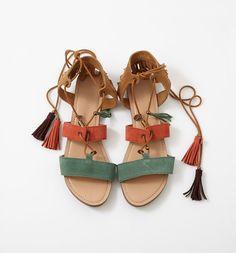 f937522ec2ced4 Sandales en cuir Femme Sandales Été, Sandales Plates, Sandales Femme,  Chaussures Femme Été
