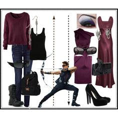 Avengers Inspired Fashion: Hawkeye. Casual and formal