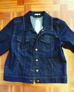 #EileenFisher Denim Jacket #NWT | Size S | Retail $198 |Our Price $99!! Call for more info (781)449-2500. #FreeShipping #ShopConsignment  #ClosetExchangeNeedham #ShopLocal