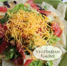 use rice crackers: Vegetarian Nachos