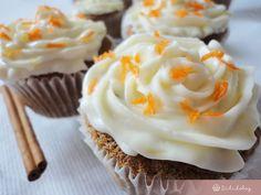 Répatorta muffin | Sütidoboz.hu Muffin, Fondant, Food Porn, Sweets, Recipes, Bunnies, Cakes, Tattoos, Fun
