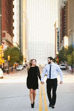 Engagement Photoshoot Downtown Tulsa Owl and Anchor Photography