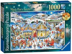 Ravensburger never disappoints: well made with beautiful scene truly a great Ravensburger jigsaw puzzle  Ravensburger Which One's Santa? 1000pc 2017
