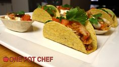NEW VIDEO:  Pulled Chicken Mini Tacos! Watch the full recipe video here: http://youtu.be/lyrQYbfwyIg